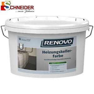 RENOVO Heizungskellerfarbe matt 2,5l grau 0201 Heizungskeller Farbe