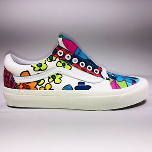 VANS Old Skool Hoffman Fabric White Floral Sneakers Womens Size 6 VN0A38G219Z