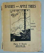 Book Daisies & Apple Trees 1922 Author Signed Mary E Boyle Childrens Prose AS IS