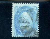 USAstamps Used FVF US Series of 1867 Franklin F Grill Scott 92 Cat $425