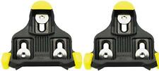 SHIMANO SH11 SPD-SL BLACK/YELLOW CLEAT SET WITH HARDWARE FLOATING