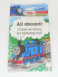 Vintage 90s Pack of Thomas The Tank Engine Train Birthday Party Invitations New!
