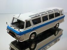 DeAGOSTINI ZILL 118 1976 BUS COUCH - OFF-WHITE + BLUE 1:43 - EXCELLENT - 18+19