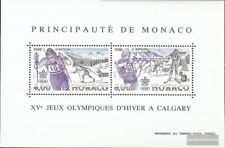 Monaco block38 (complete issue) used 1988 Winter Olympics