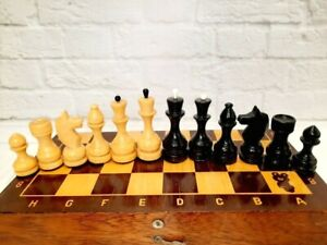 Wooden Chess USSR Full Set Grossmeister Vintage Soviet Chess.Olympic Moscow