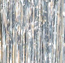 Silver Foil Curtain Backdrop Disco Door Photo Booth Party Retro