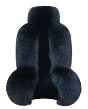 Genuine Australian Black Sheepskin Fur Car  Front Seat Cover Winter Universal