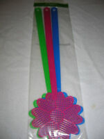 Fly Swatters decor Flower set of 3 in Pink, Blue, Green bug swatter D20