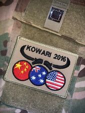 AUSTRALIA ARMY KOWARI 2016 PATCH WITH HOOK REPRO NEW (B421)