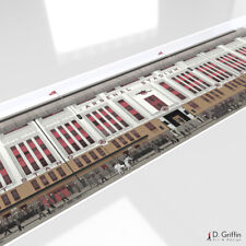More details for arsenal fc 1950's highbury stadium panoramic print poster gift art painting
