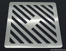 "8"" carré en acier inoxydable solide métal heavy duty drain cover gully grille grille"