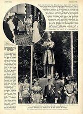 Von der Enthüllung des Denkmals für Fr. von Esmarch in Tönning Bilddokument 1905