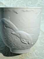 LLADRO 1998 Collector's Society Cup - Dolphins at Play White Bisque