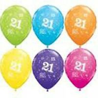 Party Supplies Decorations 21st Birthday 21 Around 28cm Tropical  Balloons Pk10