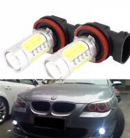 2 X LED Fog Light H11 Bulbs For BMW 1 , 2 , 3 , 4 , 5 Series F30 F31 F34 GT F35