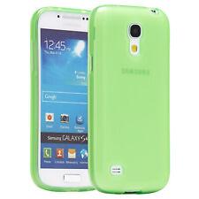 Samsung Galaxy S4 Mini Hülle Back Case Schutz Cover Schale Tasche Etui Grün Glow