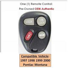97 98 99 00 Pontiac Montana keyless remote control OEM replacement entry key fob