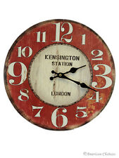Hanging Vintage Style Kensington Train Station Deco London Wall Kitchen Clock
