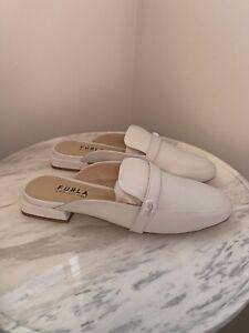 Furla 1927 Art Talco Shoes White Size 38 Slipper New