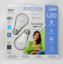 Feit Electric Smart Wi-Fi LED Dimmable 60W Light Bulbs 2 Pack White