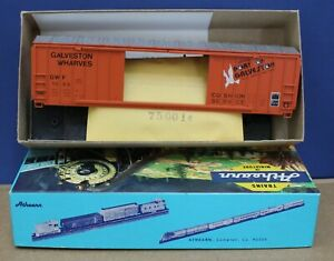 Athearn 5081 HO 50' DD Railbox Boxcar Kit Galveston Wharves #1953 NIB