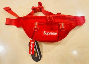 Brand New Supreme Waist Bag Fanny Pack SS19 Red
