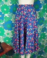 P63 1950's Rockabilly Reproduction Skirt Hell Bunny Cherry Size 14 BNWT