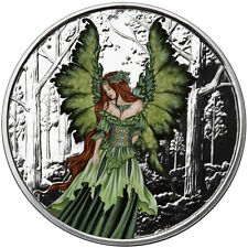 1 OZ SILVER COIN AMY BROWN FAIRY COLLECTION LADY OF THE FOREST COLORIZED #COA