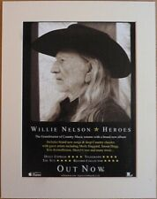 WILLIE NELSON Heroes 2012 Music Press Poster Type Advert In Mount