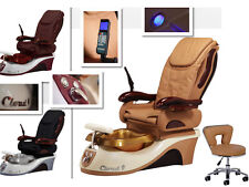 Brand New Cloud 9 massage LCD air seat pedicure spa chair nail salon Free stool