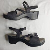 Dansko womens heeled sandals, black, sz 39