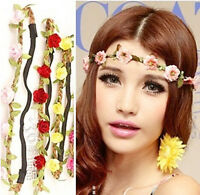 Women Girl Floral Flower Hairband Boho Style Headband Festival Party Wedding DGK