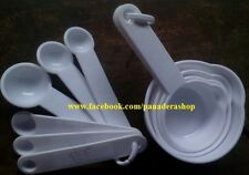 White Measuring Cups and Spoons  Set