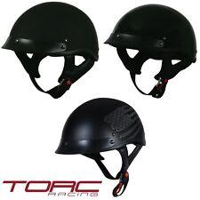 TORC T53 Open Face Shorty Half 1/2 Helmet - DOT - Motorcycle Chopper Cruiser