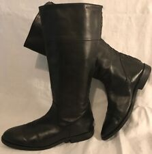 Belmondo Black Knee High Leather Beautiful Boots Size 41 (981ww)