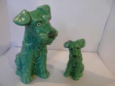 More details for a pair of sylvac schnauzer/terrier ceramic dog figurines no.1379 +no.178