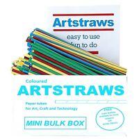 ARTSTRAWS MINI PACK COLOURED PAPER STRAWS ART STRAWS 4mm GREEN RED YELLOW BLUE