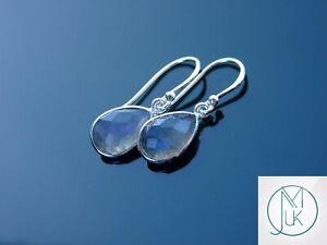 Labradorite Natural Gemstone 925 Sterling Silver Earrings Quartz Healing Stone