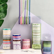 20x  Floral Washi Tape Adhesive Paper Sticker Scrapbooking Planner Diary Decor