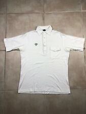 Jack Daniels White Short Sleeve Polo sz Large L Pocket Golf Vintage VTG Rare