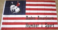 3X5 RODEO FLAG AMERICA'S #1 SPORT AMERICAN USA US F183
