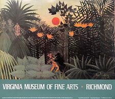"""Fantastic Henri Rousseau Lithograph """"Tropical Landscape""""1985 Virginia Museum NOS"""