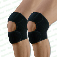2 X Dual Action Knee Support Patella Tendon Brace Strap Belt Sports Pain Relief