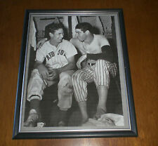1947 YANKEES DI MAGGIO & RED SOX WILLIAMS FRAMED PRINT