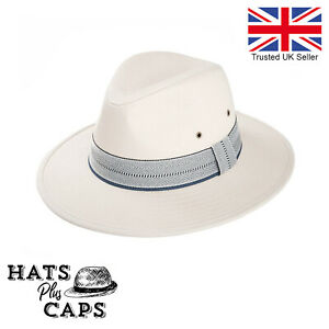 Cotton Summer Fedora Wide Brim Sun Hat Mens Womans Panama Style