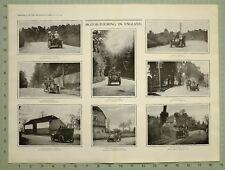 1903 Imprimé Moteur de Tournée en Dorking Warwickshire Locomotion Hampshire