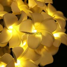 20-LED 78inch Diwali Decor Plumeria Flower String Light Wedding Party Decor