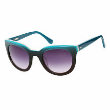 "New Authentic DEREK LAM ""Lore"" BLEU TURQUOISE & Brown Cat Eye Lunettes de soleil RP$ 285"