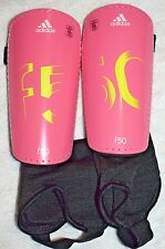 adidas F50 Pro Youth Soccer Shin Guards w/Ankle Sock, Large Pink, Free Shipping!