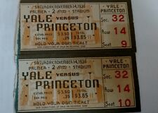 Rare 1936 Ivy League YALE VS PRINCETON Football Ticket Stubs 2 Palmer Stadium